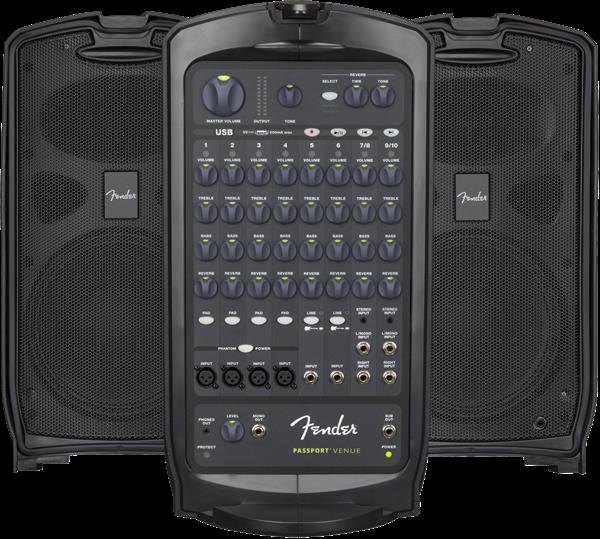 FENDER Passport VENUE, 230V EUR, Black - Voce - Audio Casse e Monitor - Diffusori Attivi