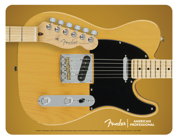 Fender telecaster mouse pad butterscotch blonde chitarre