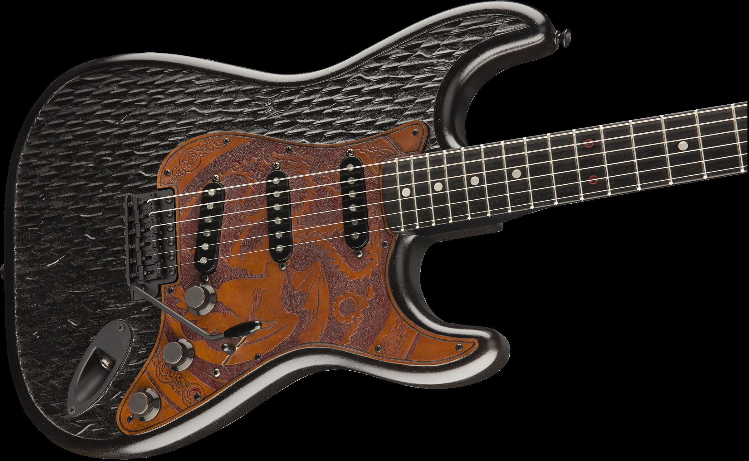 game of thrones house targaryen stratocaster stratocaster electric guitars fender guitars. Black Bedroom Furniture Sets. Home Design Ideas
