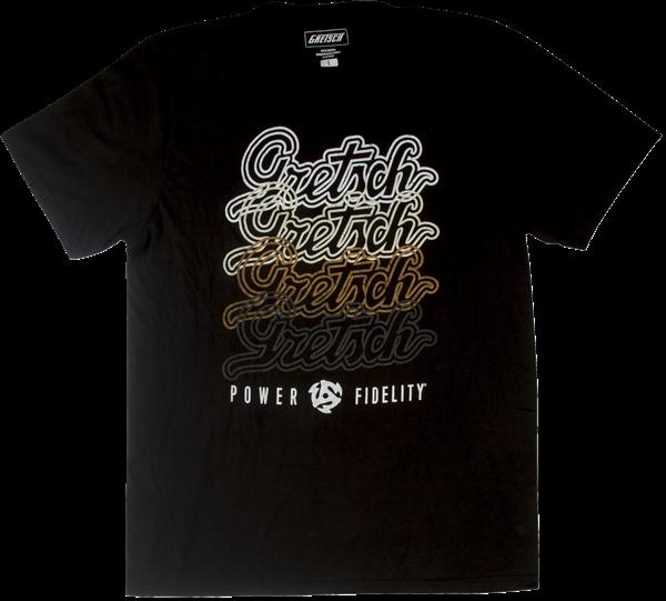 GRETSCH Gretsch Script Logo T-Shirt, Black, XXL
