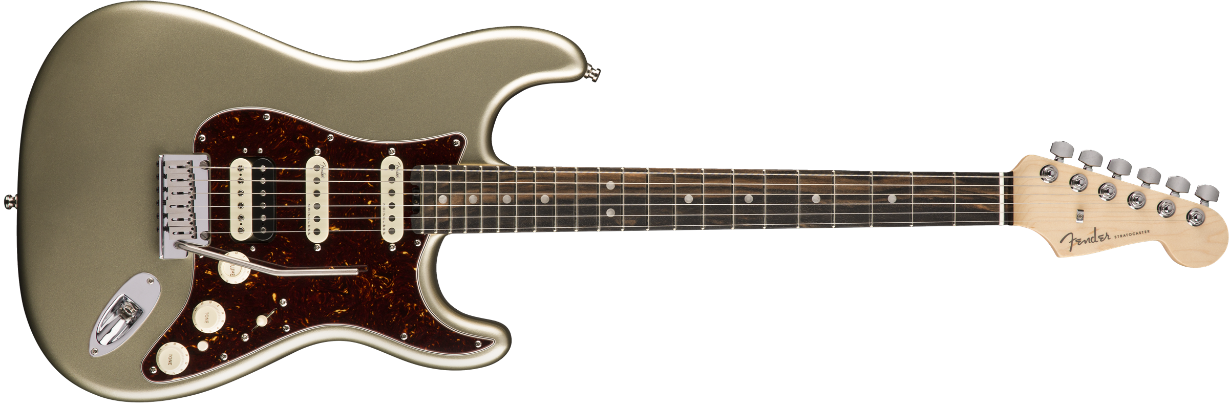 FENDER AM AMERICAN ELITE STRATO HSS SHAWBUCKER EBONY CHAMP - 0114111774