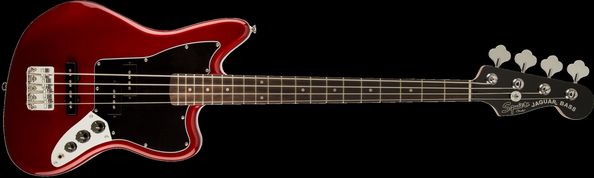 SQUIER Vintage Modified Jaguar Bass Special SS, Laurel Fingerboard, Candy Apple Red