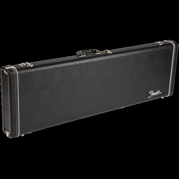 FENDER G&G Deluxe Precision Bass Hardshell Case, Black with Orange Plush Interior, Fender Amp Logo