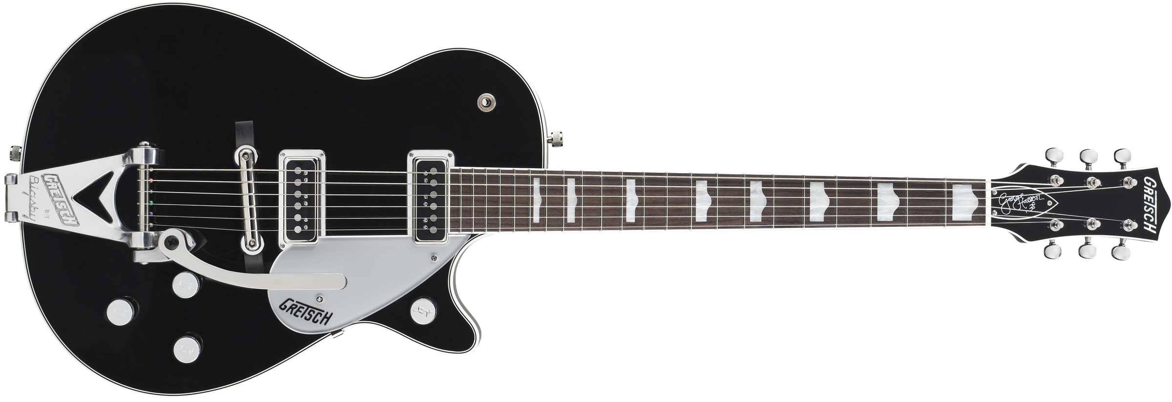 G6128T-GH George Harrison Signature Duo Jet™ with Bigsby®, Rosewood Fingerboard, Black