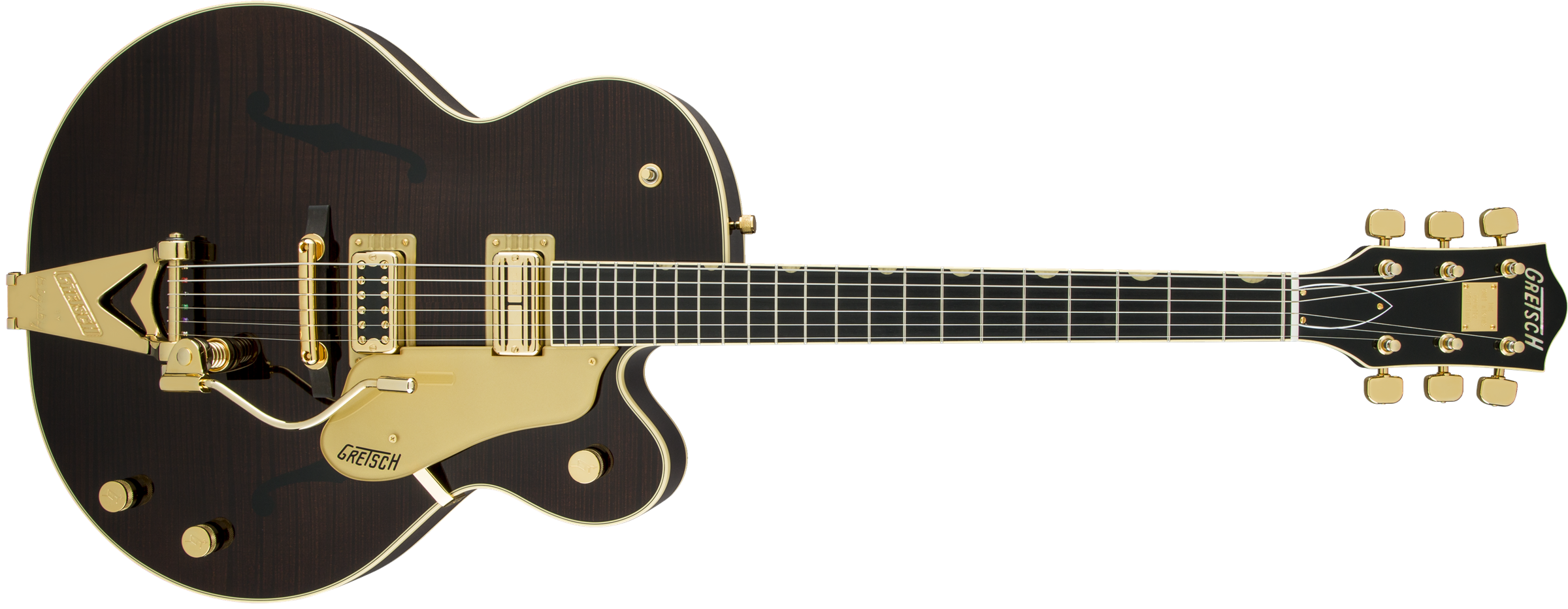 G6122T-59 Vintage Select Edition '59 Chet Atkins® Country Gentleman® Hollow Body with Bigsby®, TV Jones®, Tiger Flame Maple, Walnut Stain Lacquer
