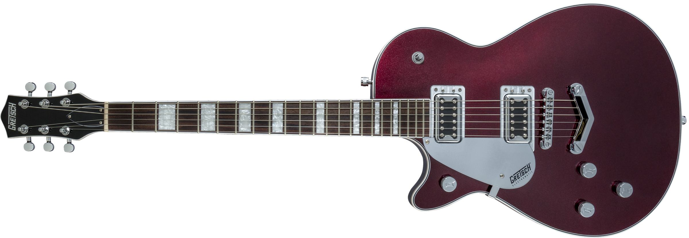 GRETSCH G5220LH Electromatic Jet BT Single-Cut with V-Stoptail, Left-Handed, Black Walnut Fingerboard, Dark Cherry Metallic