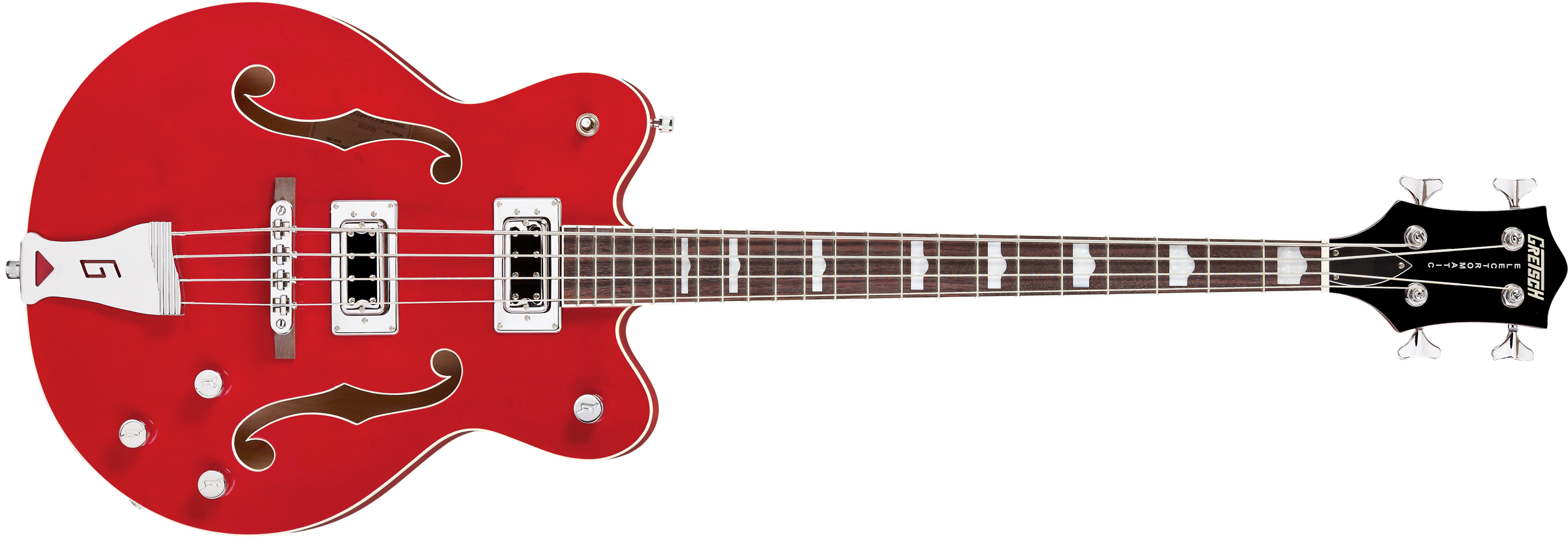 GRETSCH G5442BDC ELECTROMATIC HOLLOWBODY SS SHORT SCALE BASS TRANSPARENT RED - 2518002515