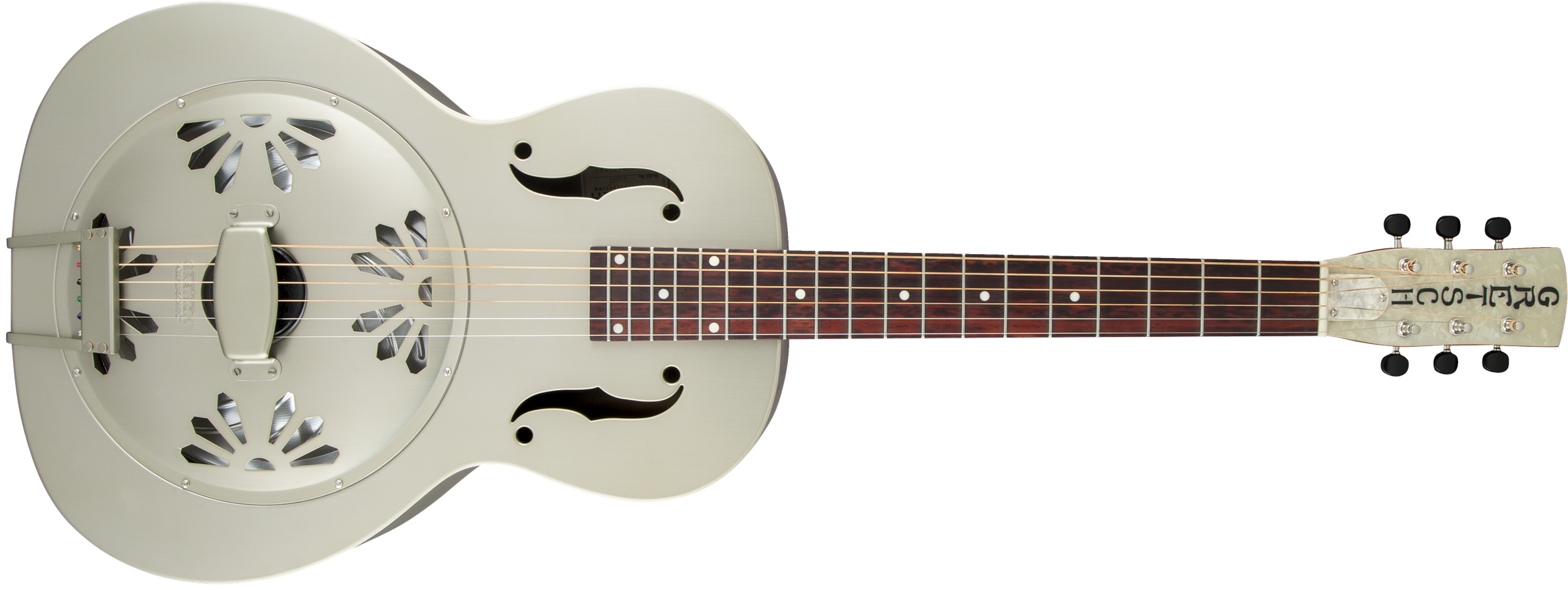 GRETSCH G9201 Honey Dipper Round-Neck, Brass Body Biscuit Cone Resonator Guitar, Shed Roof Finish