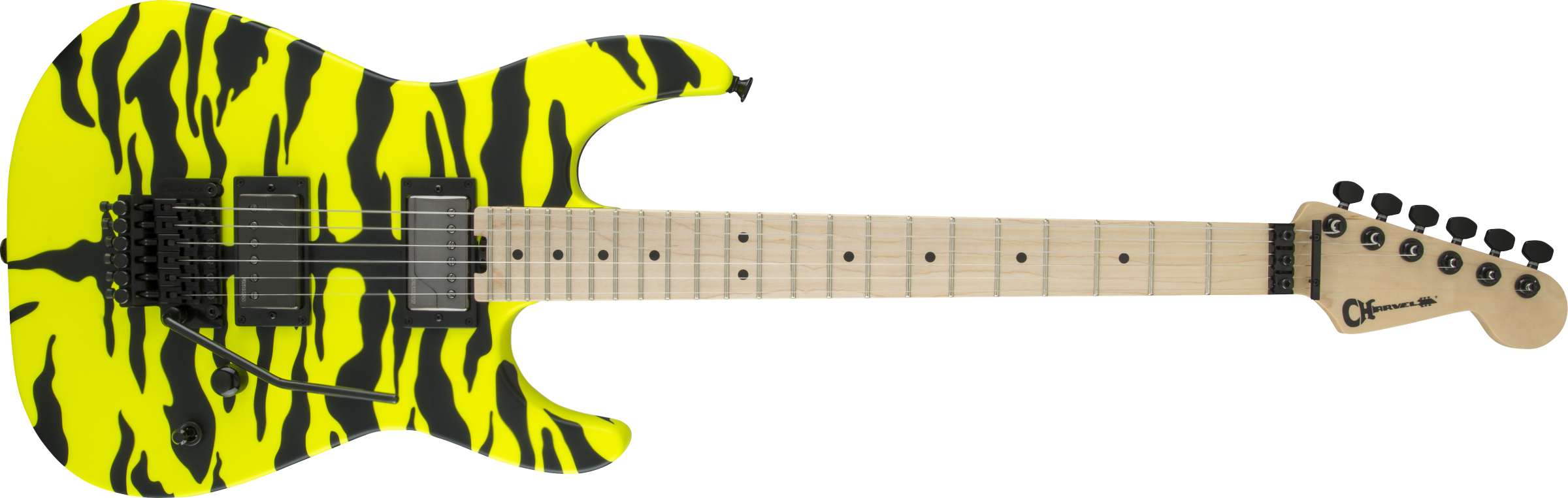 CHARVEL Satchel Signature Pro-Mod DK, Maple Fingerboard, Yellow Bengal