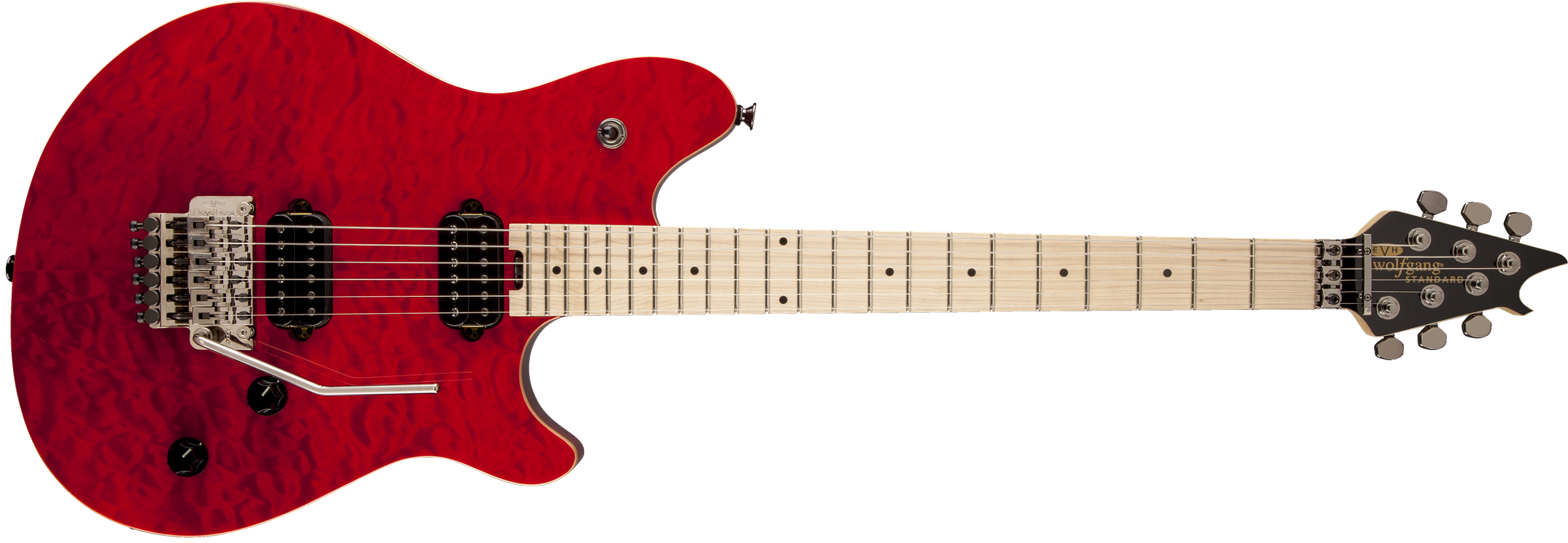 EVH® Wolfgang® WG Standard, Maple Fingerboard, Transparent Red