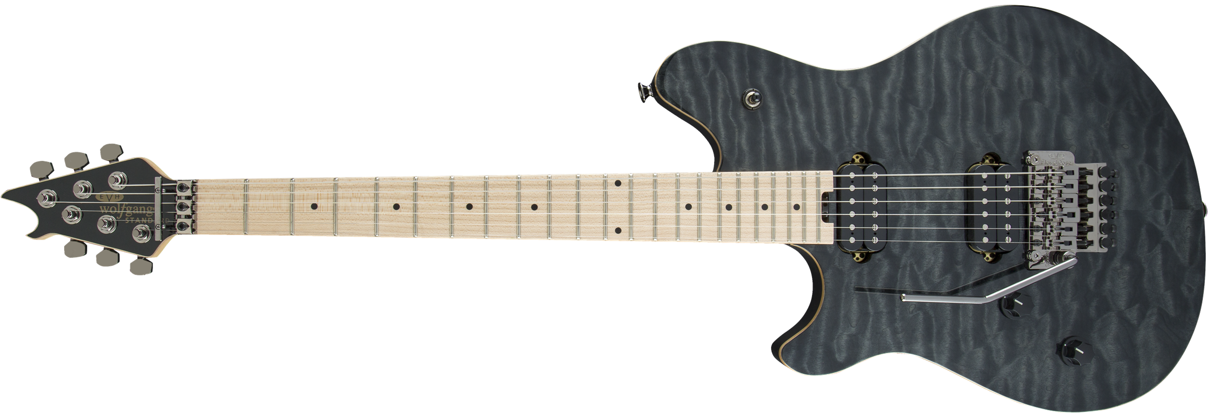 Wolfgang® WG Standard LH, Maple Fingerboard, Transparent Black
