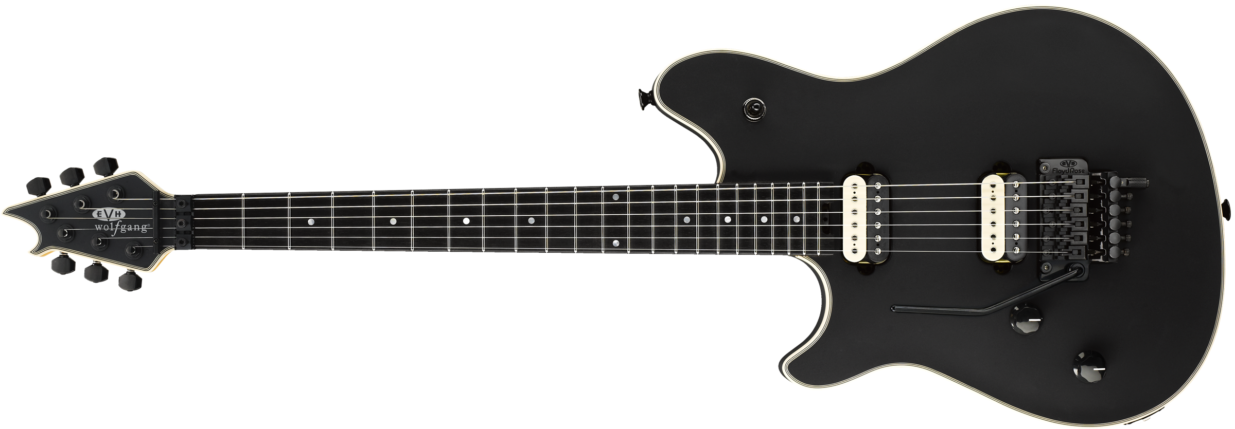 EVH® Wolfgang® USA Left-Hand, Ebony Fingerboard, Stealth Black