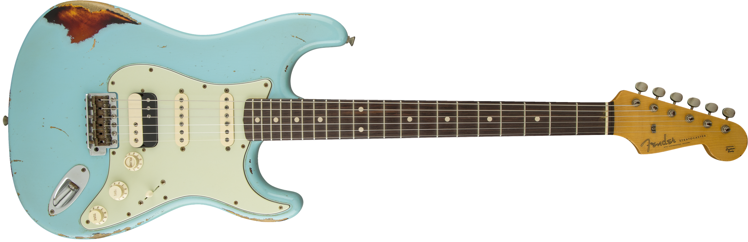 Imperial Arc 60's Stratocaster® HSS - Daphne Blue over 3