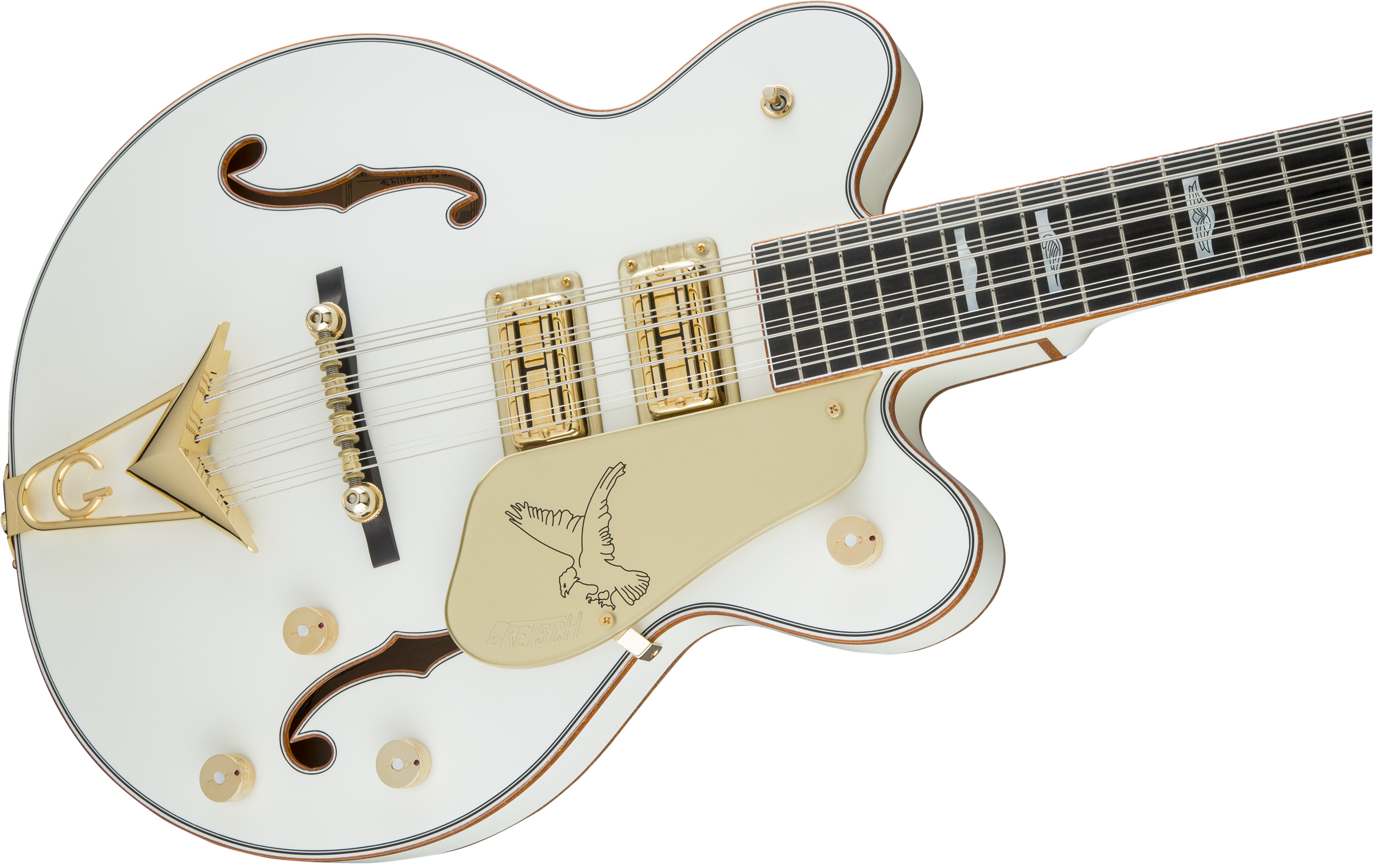 Bass G6136B TP12 Custom Shop Tom Petersson Signature White