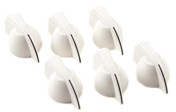 FENDER Chicken Head Amplifier Knobs, (6), White