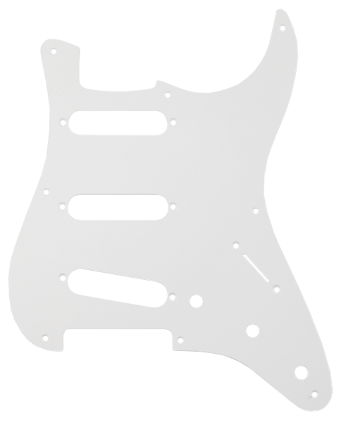 FENDER Pure Vintage Pickguard, 56/59 Stratocaster, 8-Hole Mount, Eggshell, 1-Ply