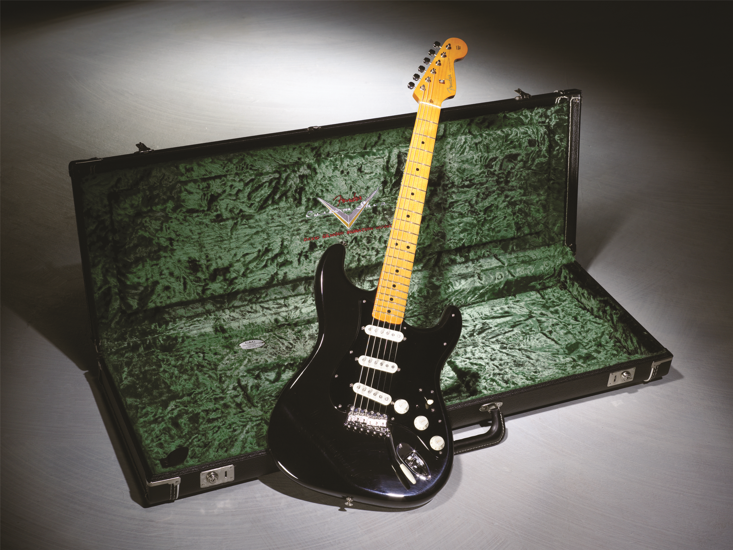 David Gilmour Signature Stratocaster Artist Series Fender The Black Strat Wiring Diagram Custom Shop