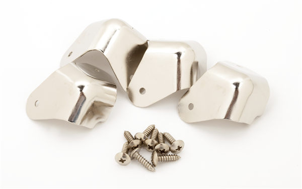 FENDER Pure Vintage 2-Screw Mount Amplifier Corners, (4), Nickel