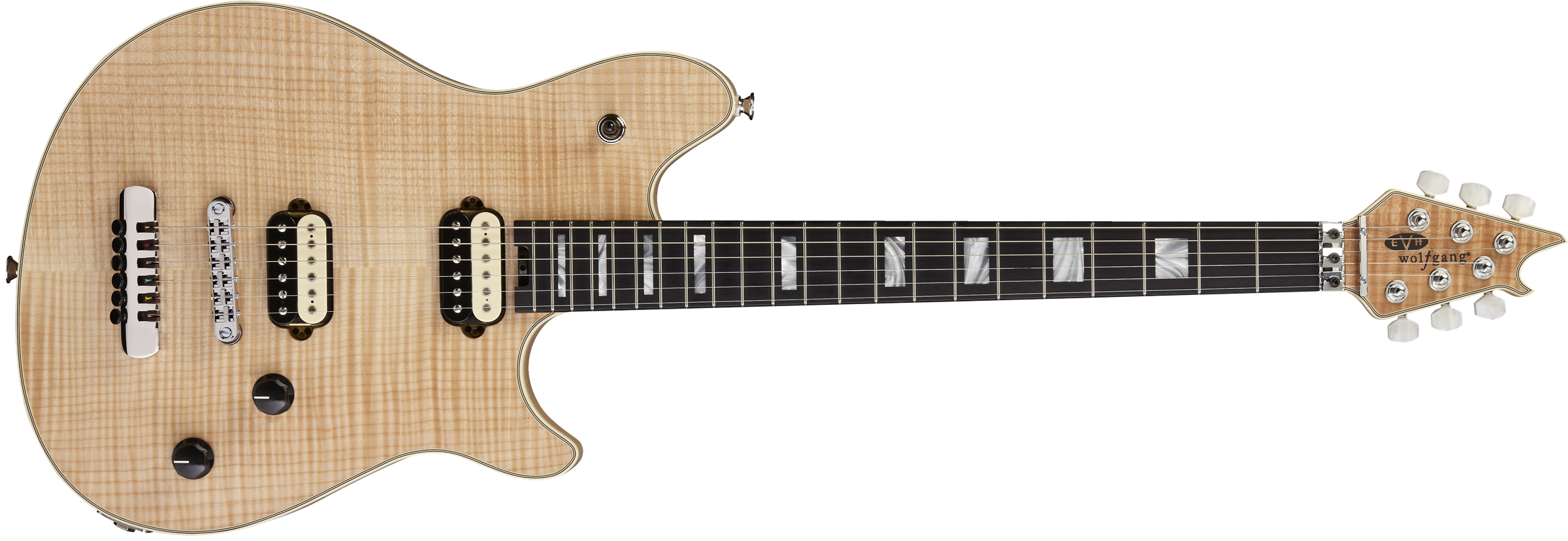 EVH® Wolfgang® USA HT, Ebony Fingerboard, 5A Flame Top, Natural