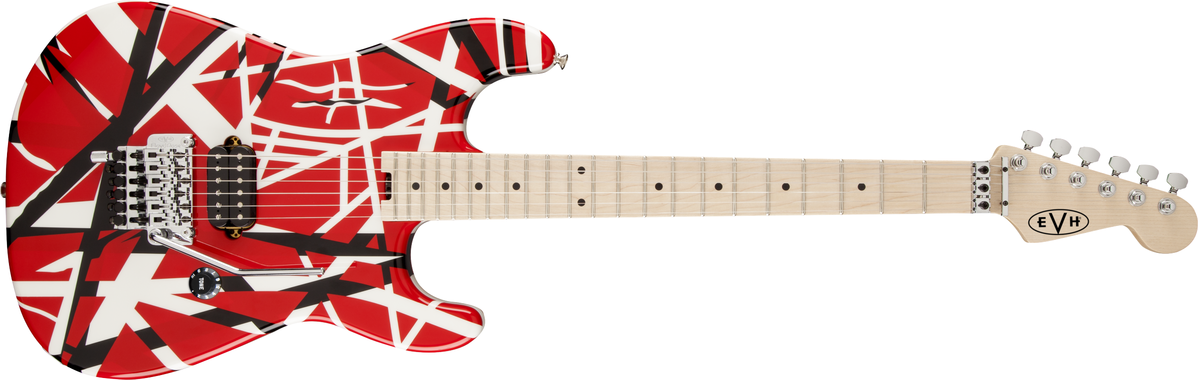 EVH® Striped Series Red with Black Stripes