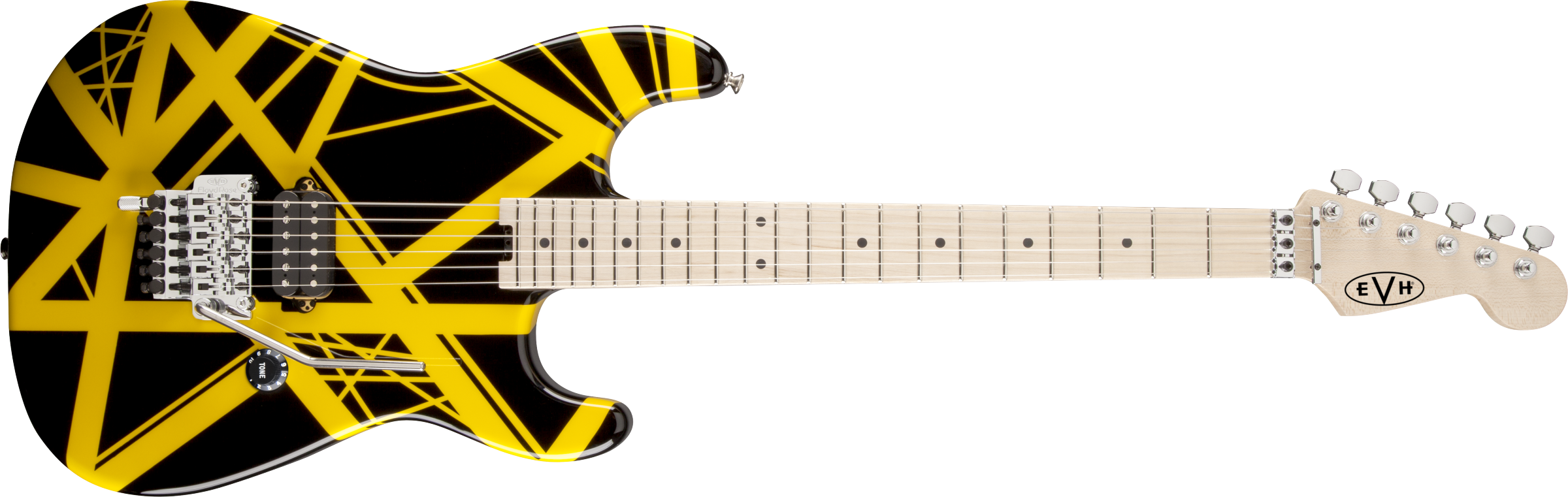 EVH® Striped Series Black with Yellow Stripes