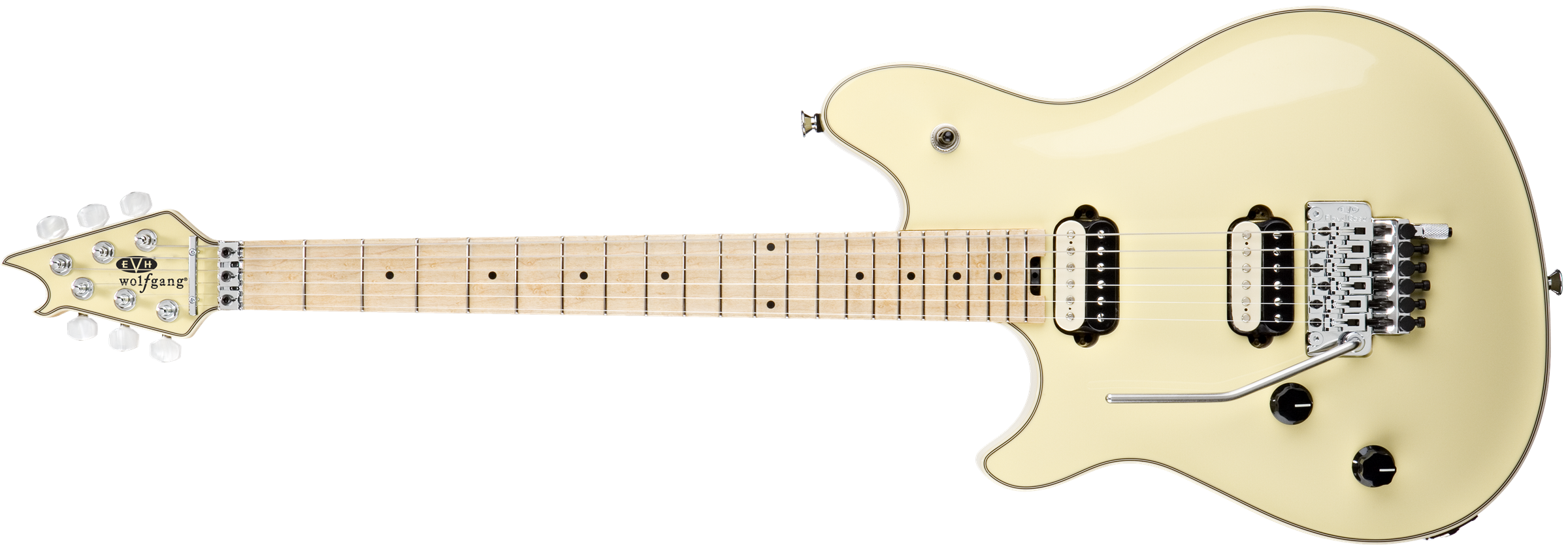 EVH® Wolfgang® USA Left Hand, Birdseye Maple Fingerboard, Vintage White
