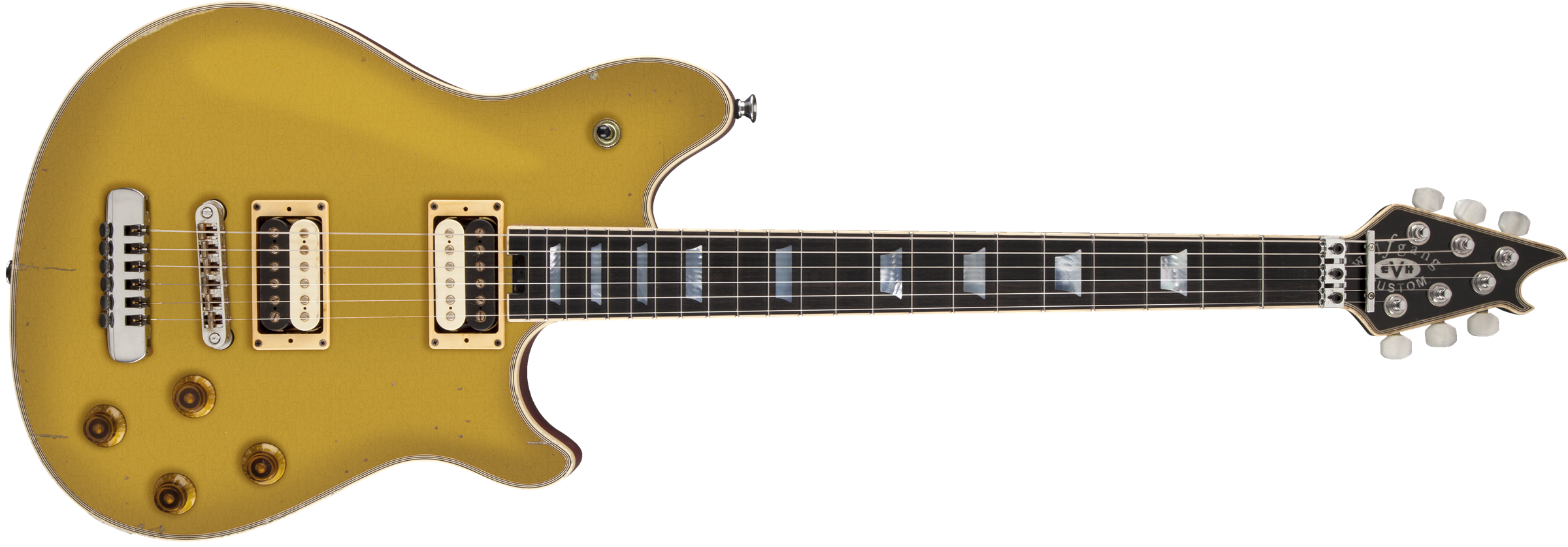 EVH® Wolfgang® USA Custom Relic®, Ebony Fingerboard, Relic Gold