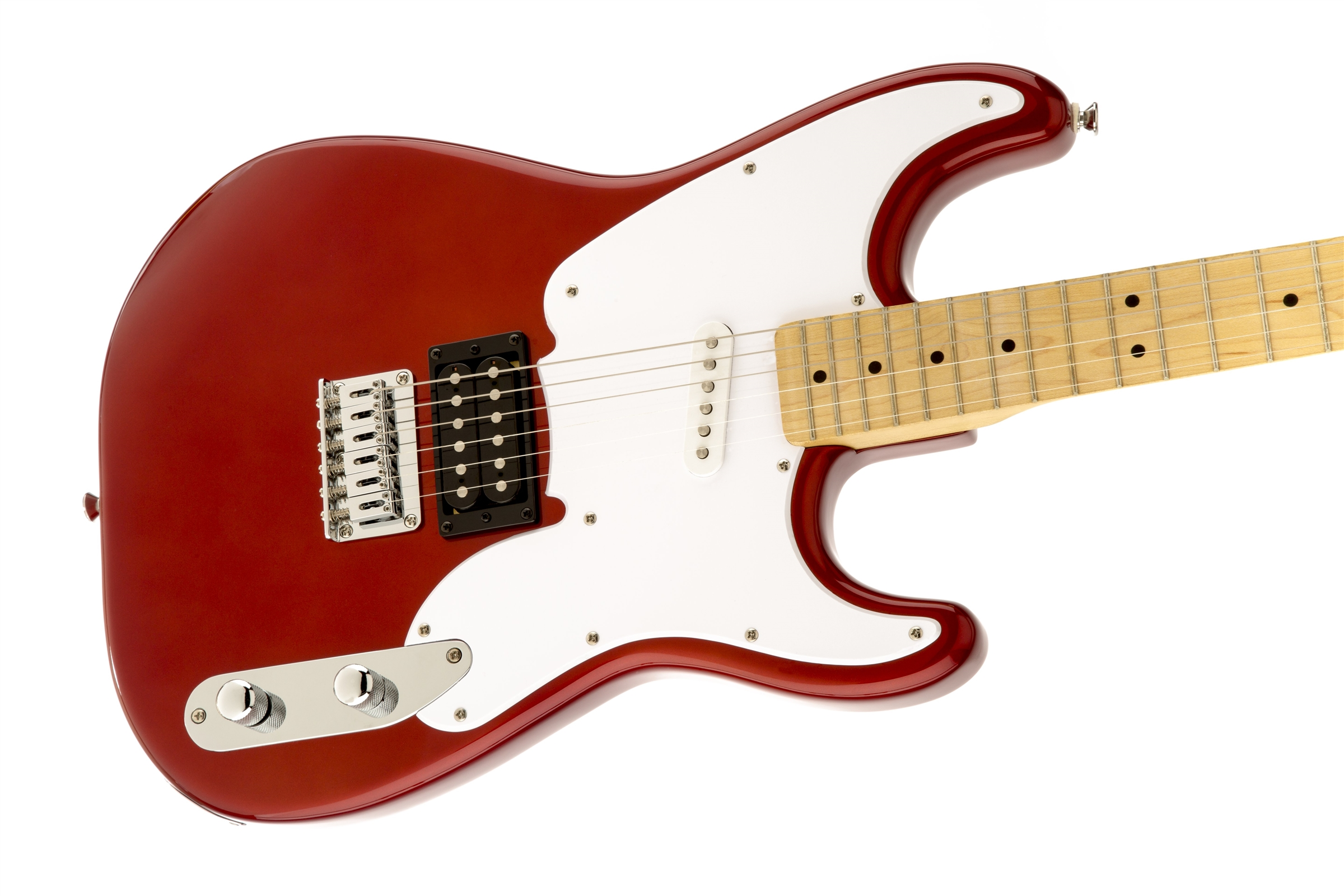 Squier U00ae Squier  U0026 39 51  Maple Fingerboard  Candy Apple Red
