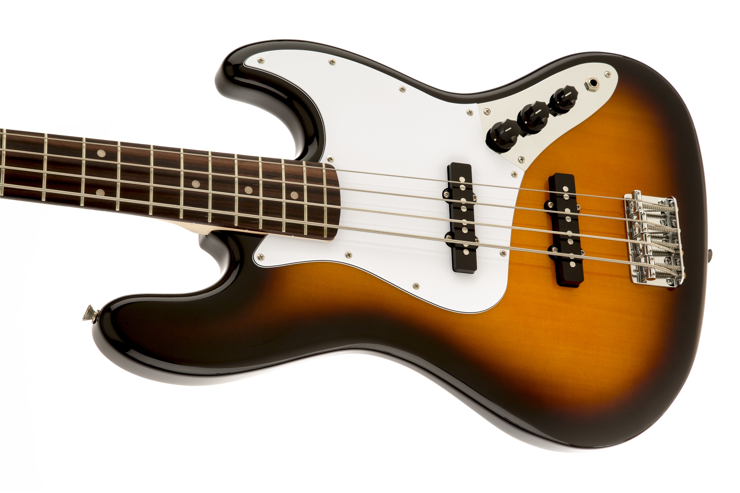 squier affinity jazz bass rosewood fingerboard brown sunburst squier bass guitars. Black Bedroom Furniture Sets. Home Design Ideas