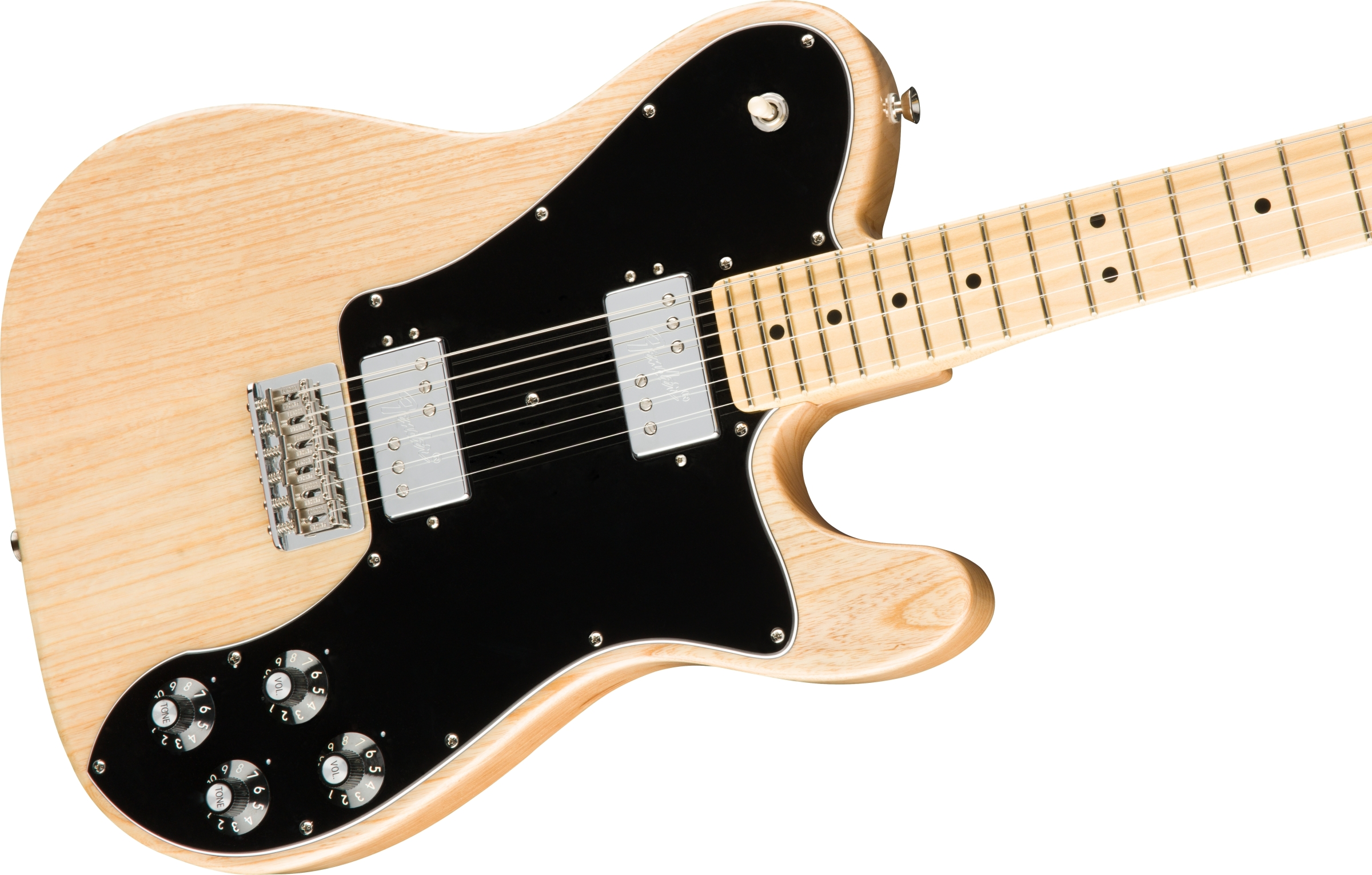 fender american pro telecaster deluxe shawbucker maple fingerboard natural. Black Bedroom Furniture Sets. Home Design Ideas