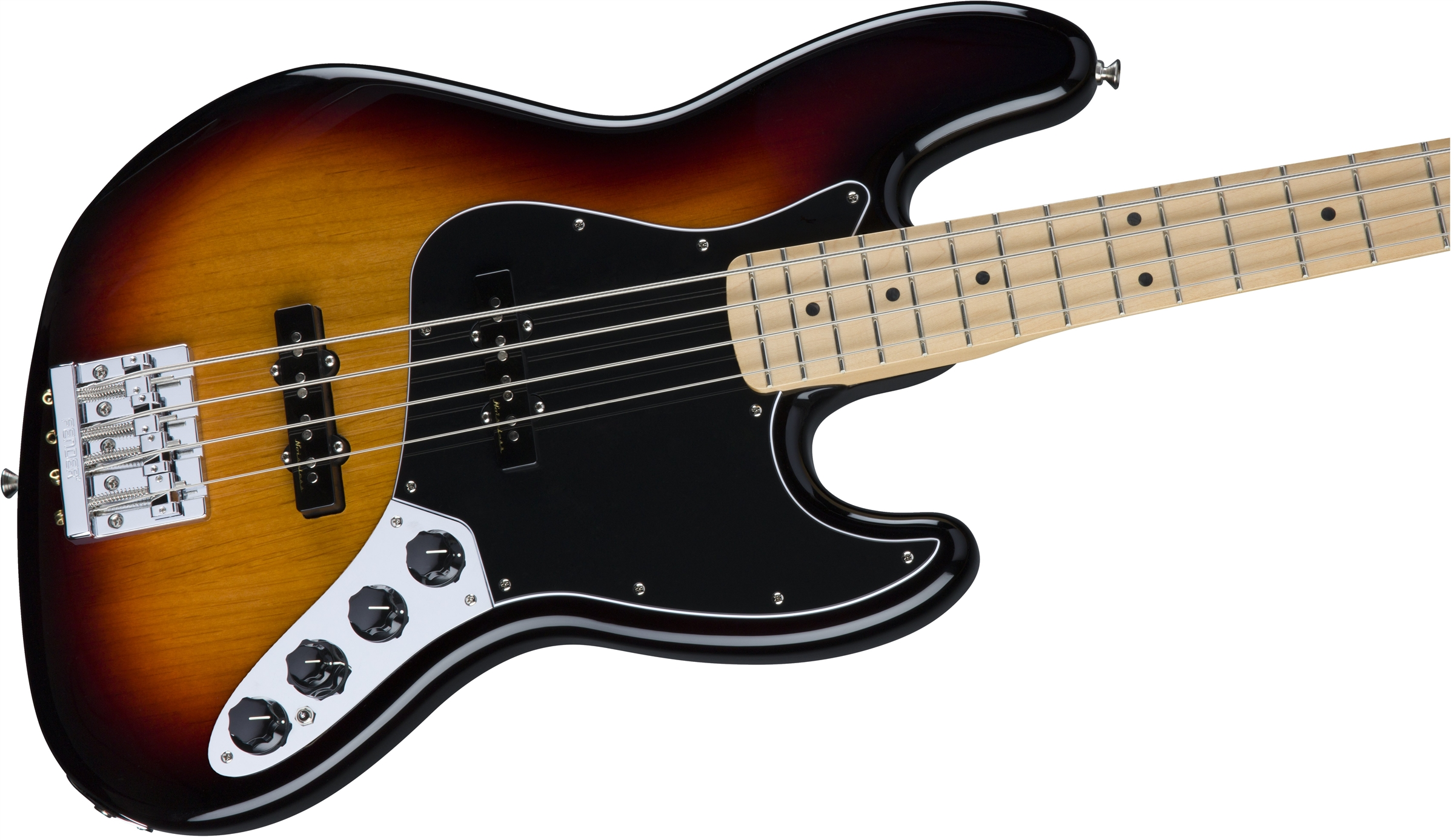 Fender Deluxe Active Jazz Bass U00ae  Maple Fingerboard  3 Color Sunburst