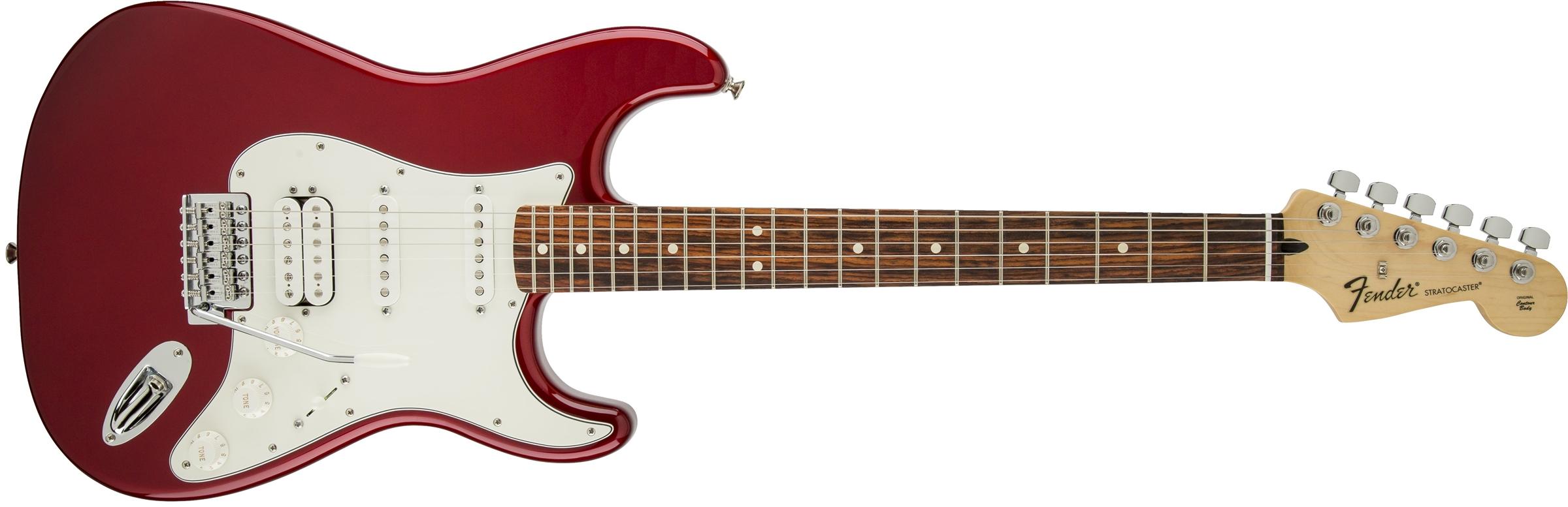 fender standard stratocaster hss rosewood fingerboard candy apple red. Black Bedroom Furniture Sets. Home Design Ideas