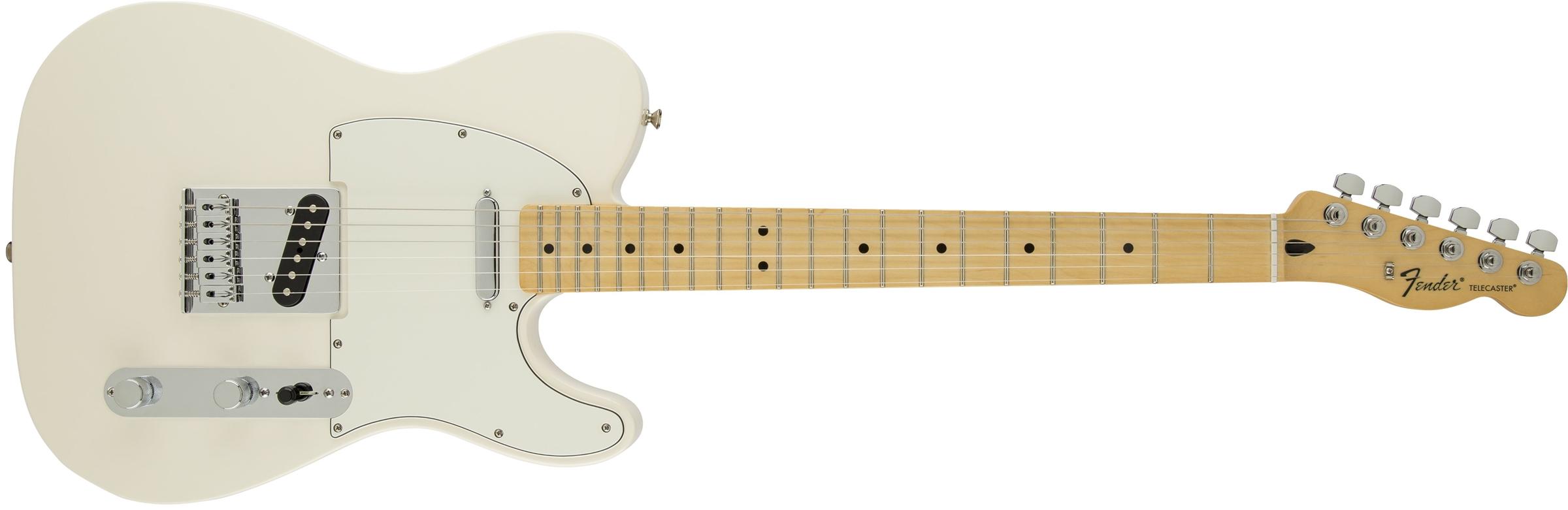 fender standard telecaster maple fingerboard arctic white. Black Bedroom Furniture Sets. Home Design Ideas