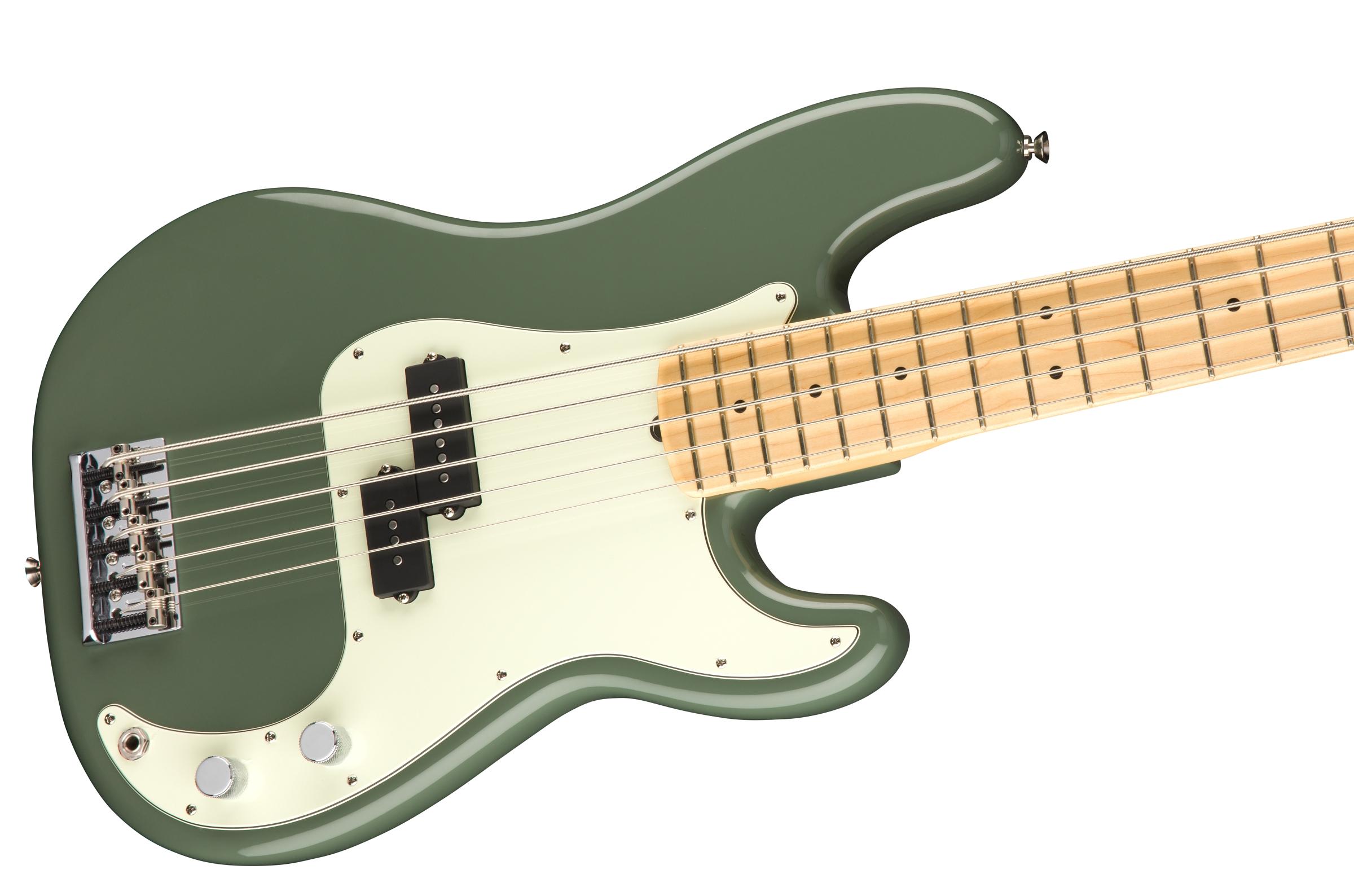 fender american pro precision bass v maple fingerboard antique olive. Black Bedroom Furniture Sets. Home Design Ideas