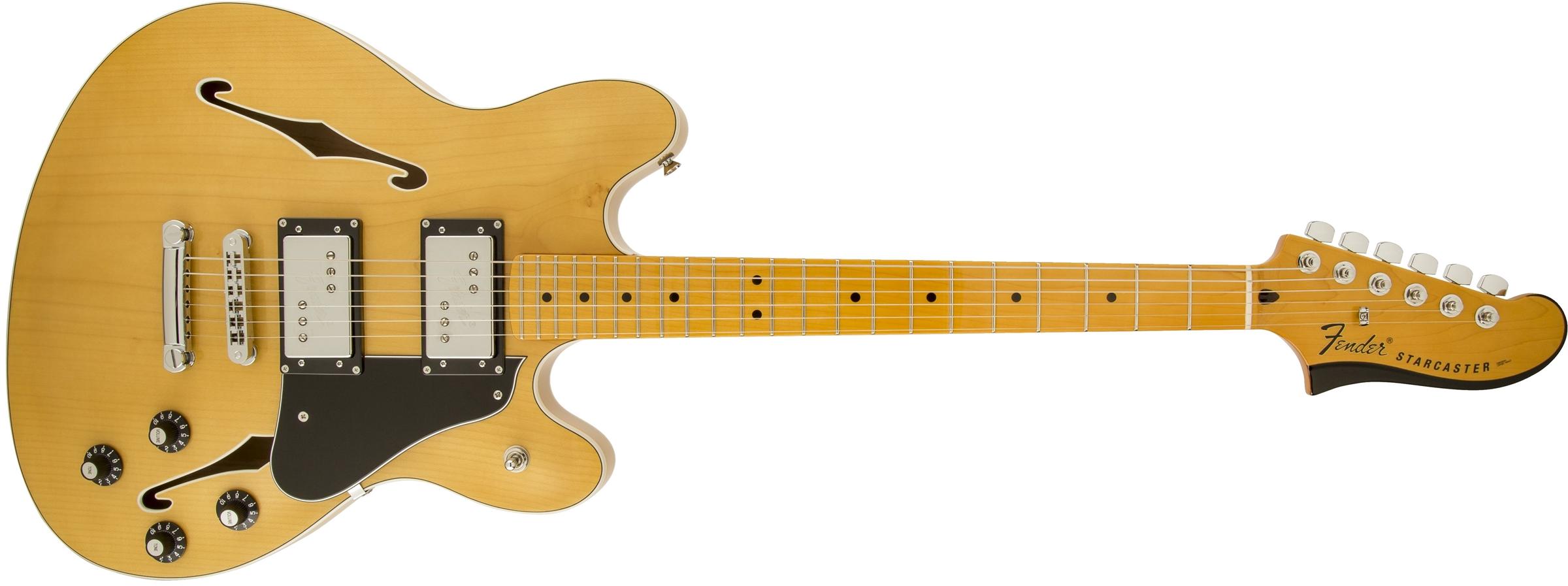 Fender Starcaster 174 Maple Fingerboard Natural