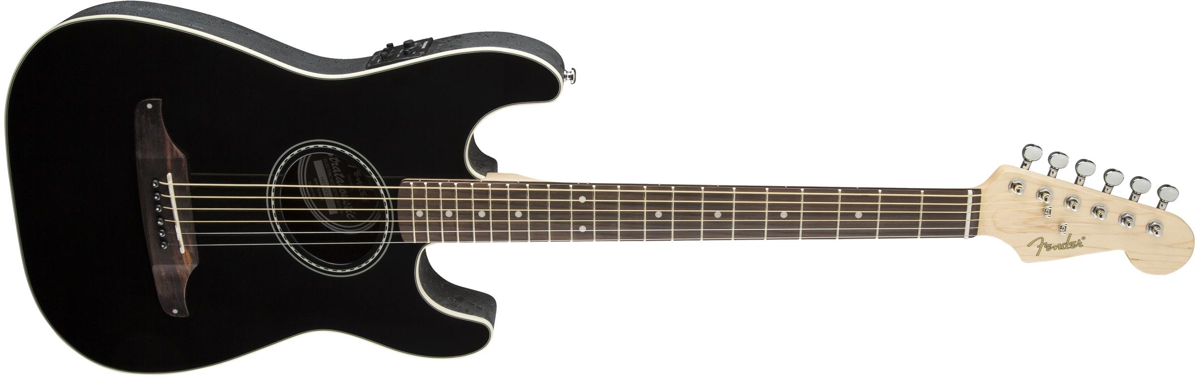 stratacoustic black fender acoustic guitars. Black Bedroom Furniture Sets. Home Design Ideas