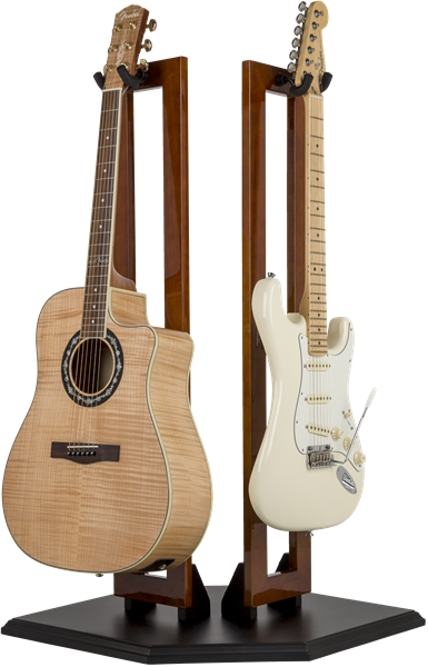 Fender Fender Hanging Wood Double Guitar Stand Cherry