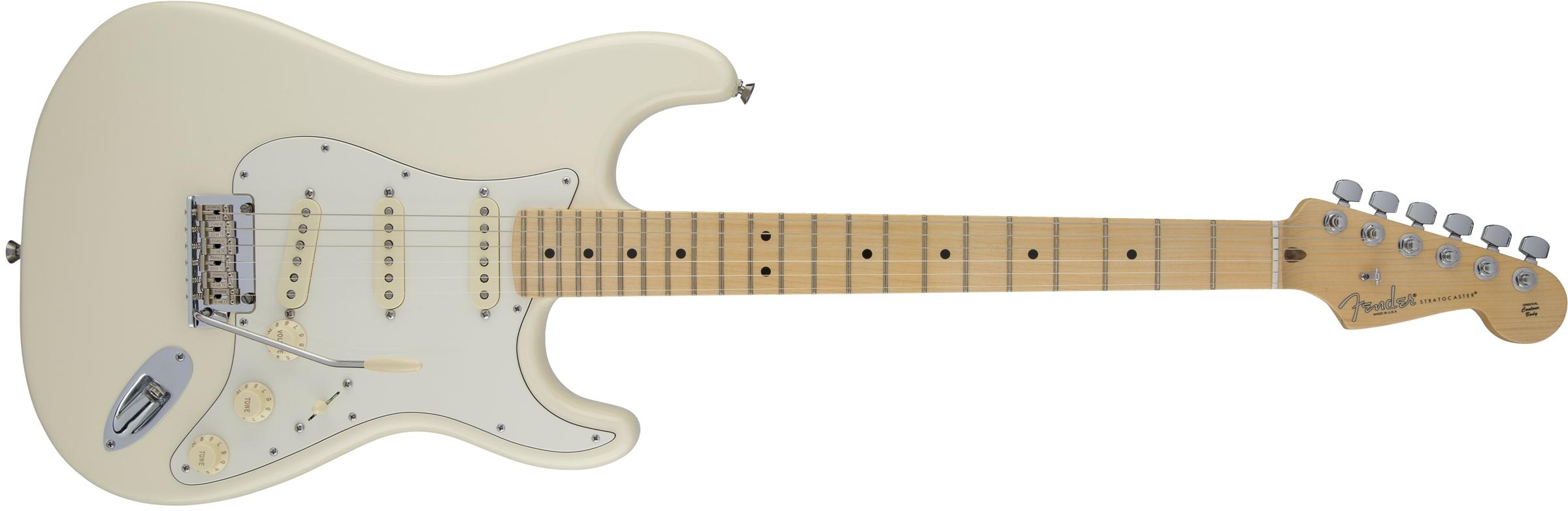 american standard stratocaster maple fingerboard olympic white fender electric guitars. Black Bedroom Furniture Sets. Home Design Ideas
