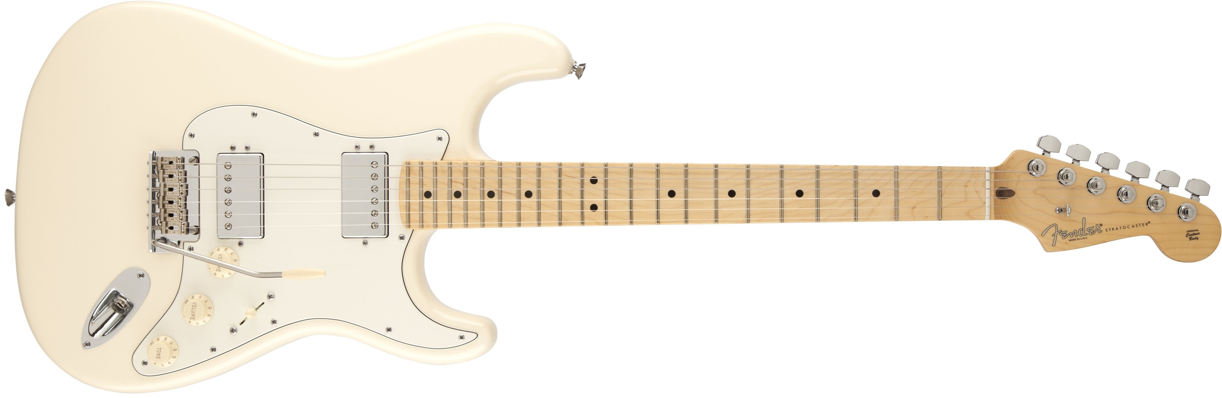 american standard stratocaster 174 hh maple fingerboard olympic white fender electric guitars
