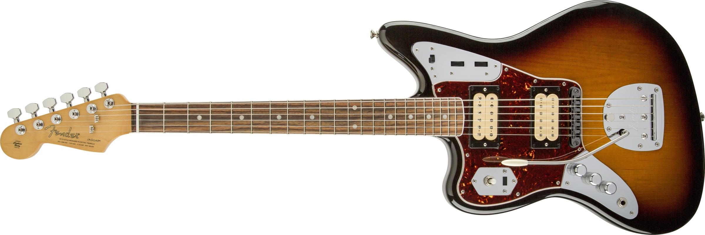 Kurt Cobain Jaguar 174 Left Hand Fender Electric Guitars