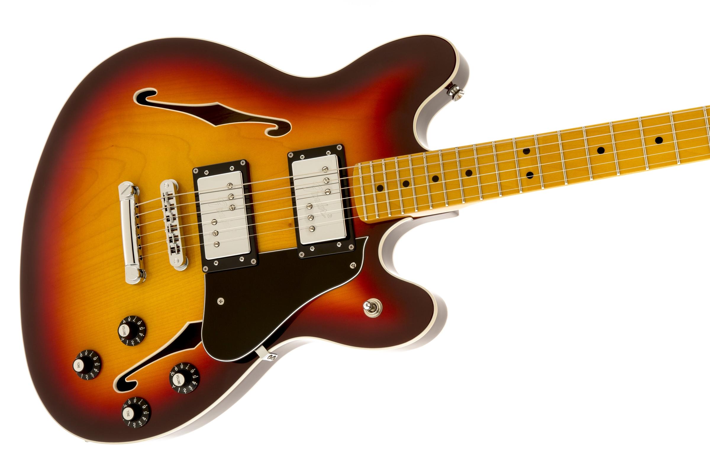 Fender Starcaster®, Maple Fingerboard, Aged Cherry Burst