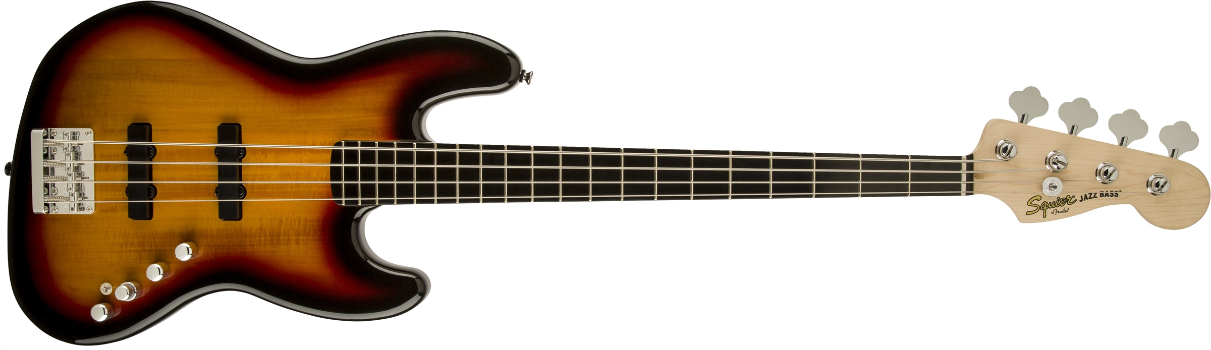 squier® deluxe jazz bass® iv active 4 string ebonol fingerboard deluxe jazz bass® active iv 3 color sunburst