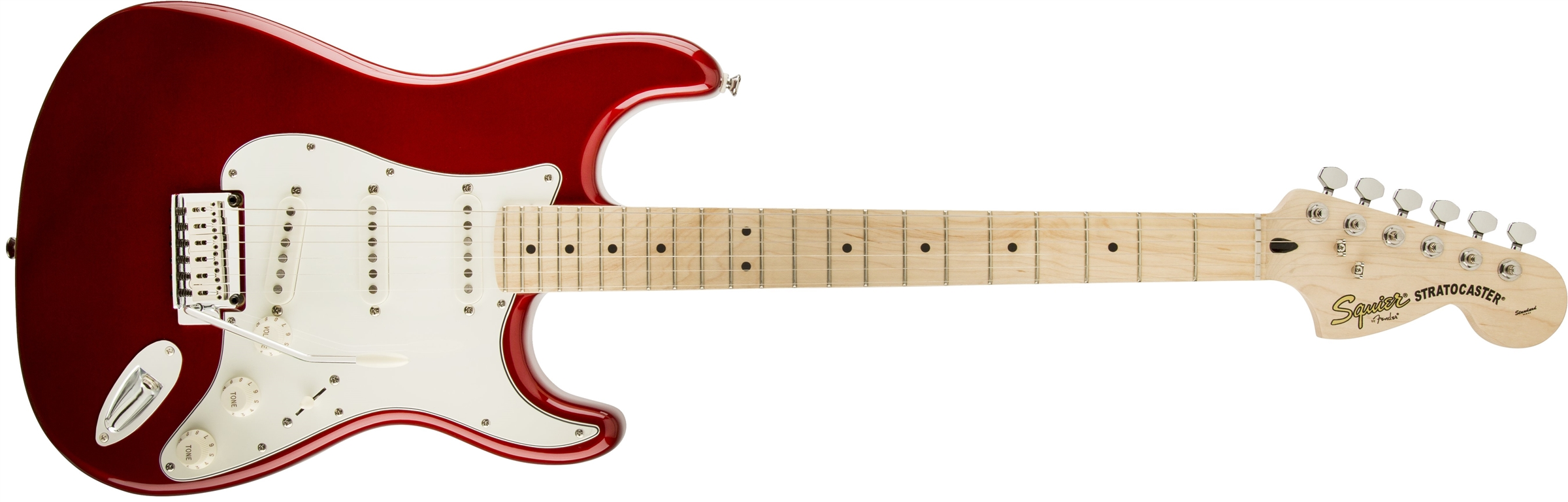 squier standard stratocaster maple fingerboard candy apple red squier electric guitars. Black Bedroom Furniture Sets. Home Design Ideas