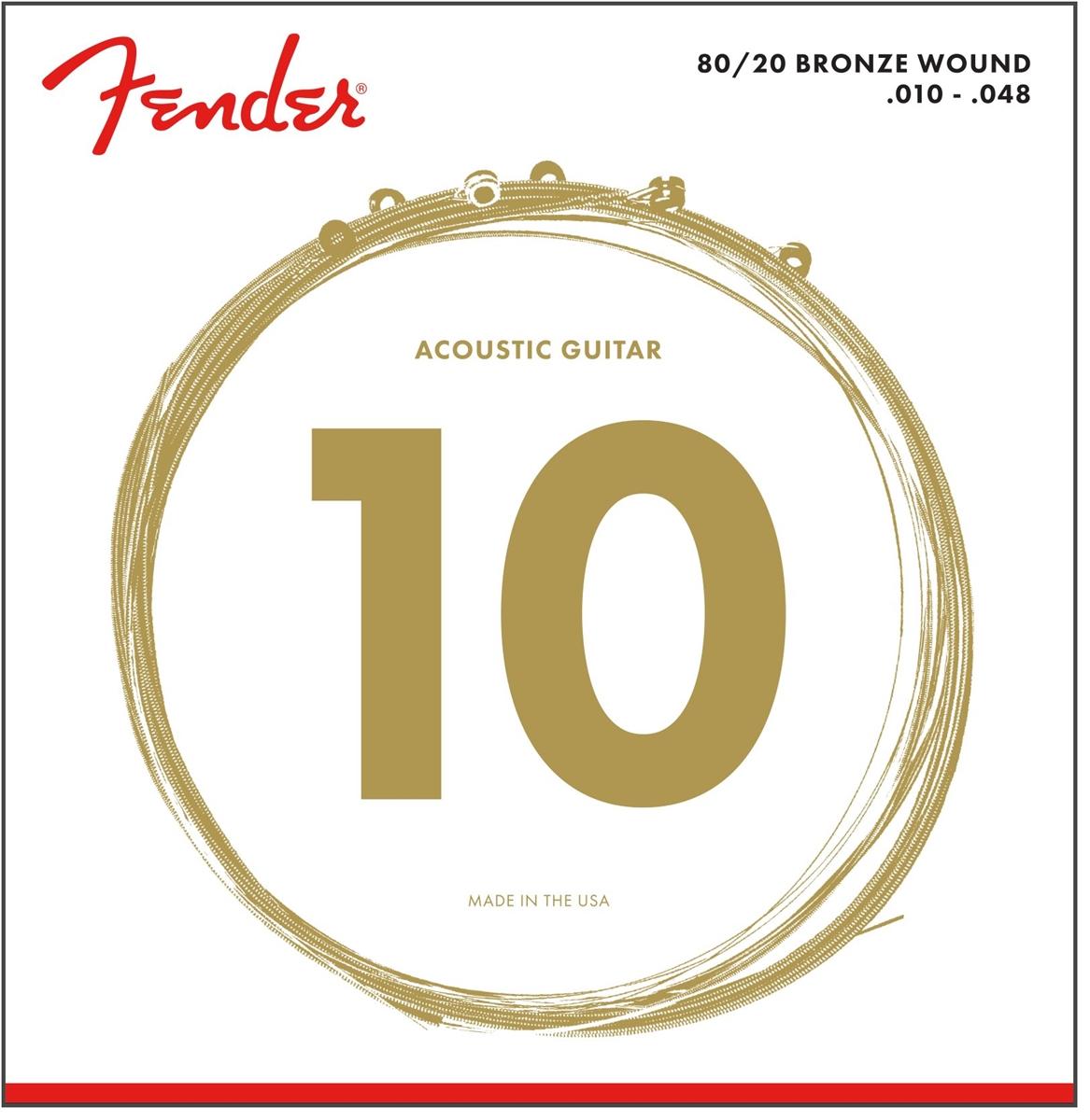 fender 80 20 bronze acoustic strings ball end 70xl 010 048 gauges 6. Black Bedroom Furniture Sets. Home Design Ideas