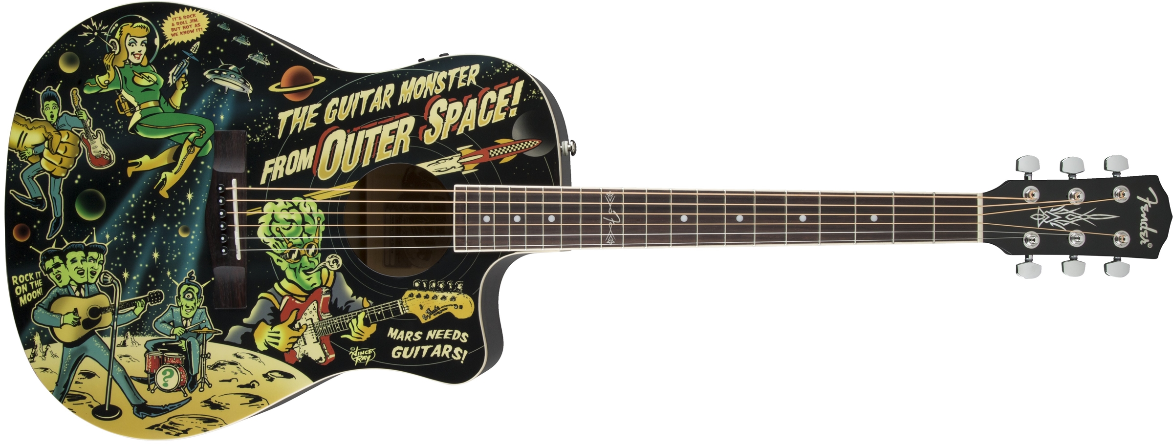 Vince ray outer space bucket fender acoustic guitars for Outer space guitar