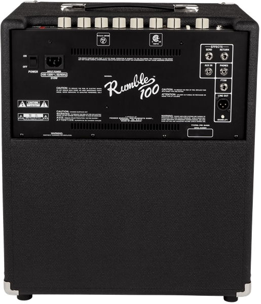 Fender Rumble U2122 100  V3   120v  Black  Silver
