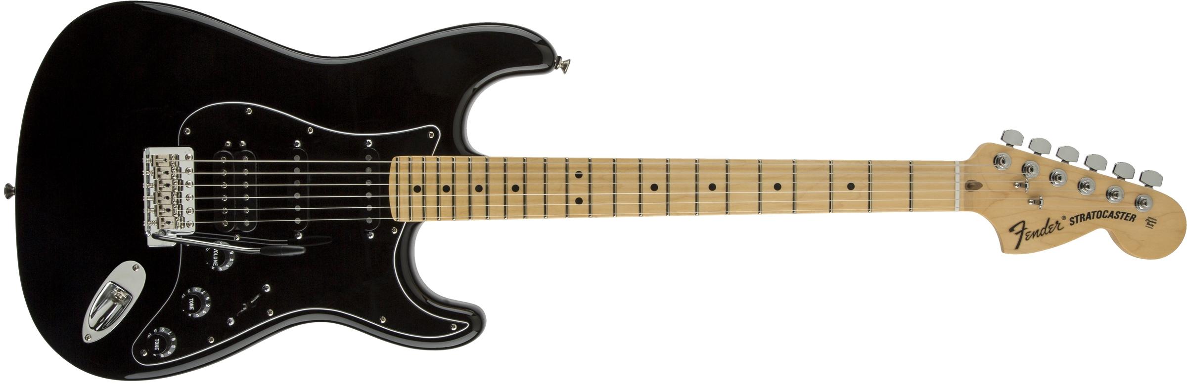 Fender american special stratocaster 174 hss maple fingerboard black