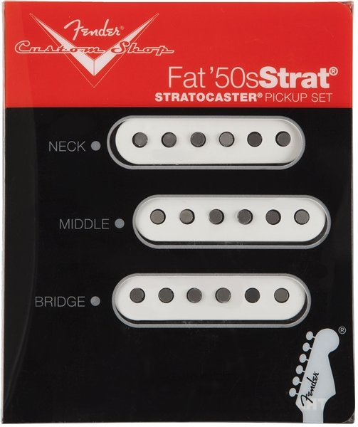 custom shop fat s stratocaster pickups fender custom shop fat 50s stratocasteracircreg pickups white