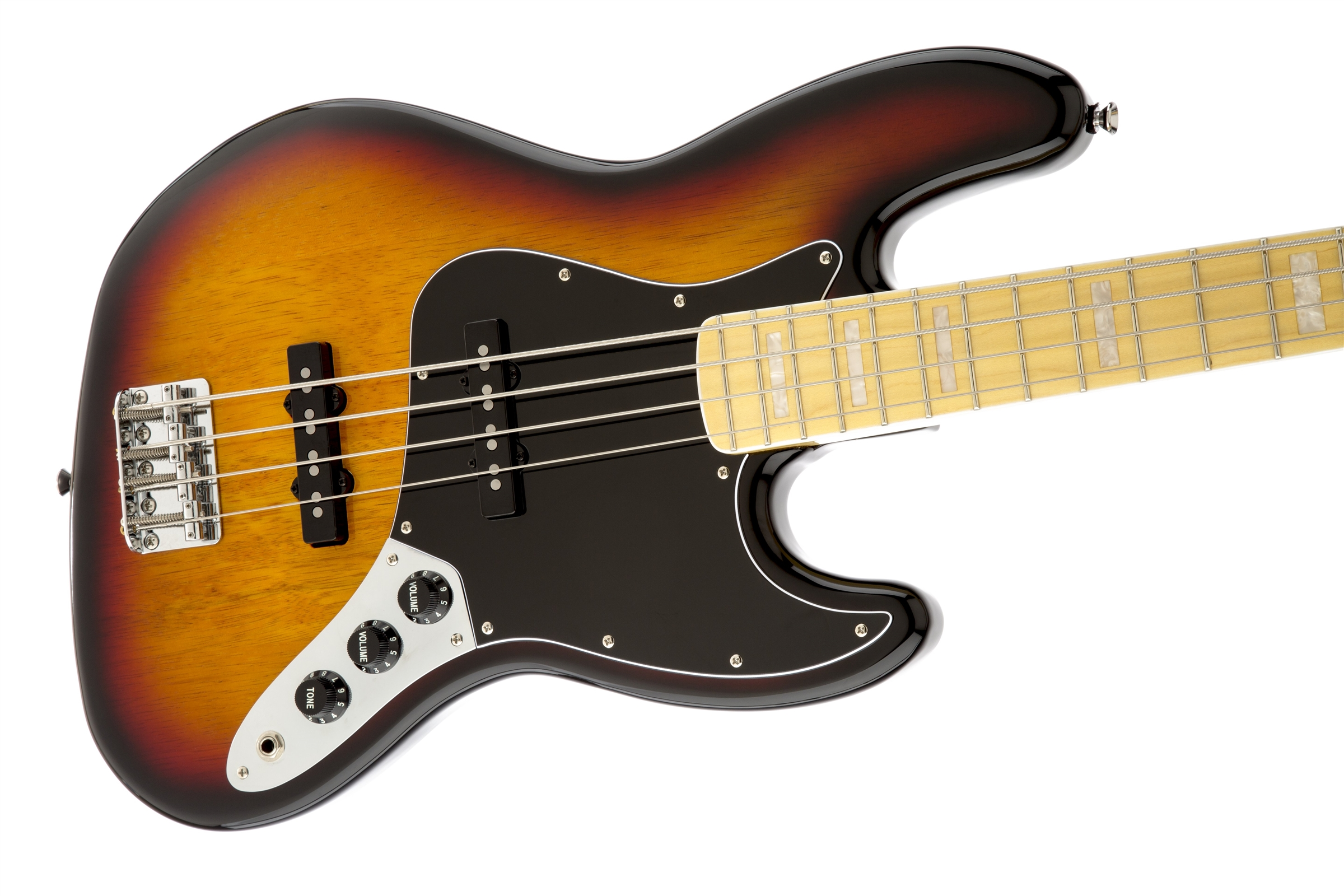 squier vintage modified jazz bass 39 77 maple fingerboard 3 color sunburst squier bass guitars. Black Bedroom Furniture Sets. Home Design Ideas