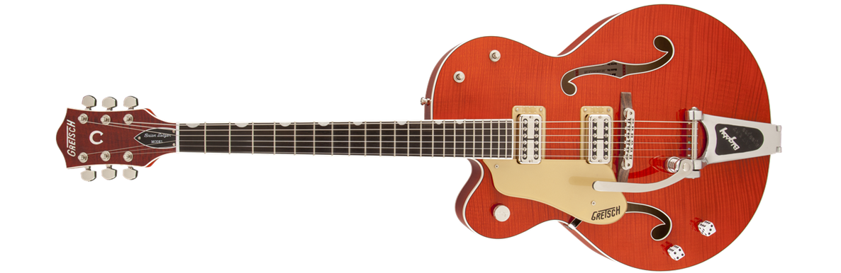 G6120SSU-LH Brian Setzer Nashville® with Bigsby®, Left-Handed, TV Jones® Setzer Pickups, Tiger Flame Maple